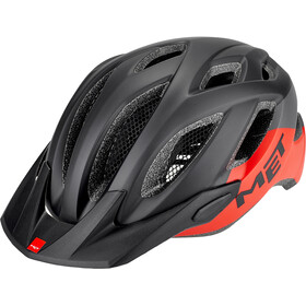 MET Crossover Cykelhjelm, black/red